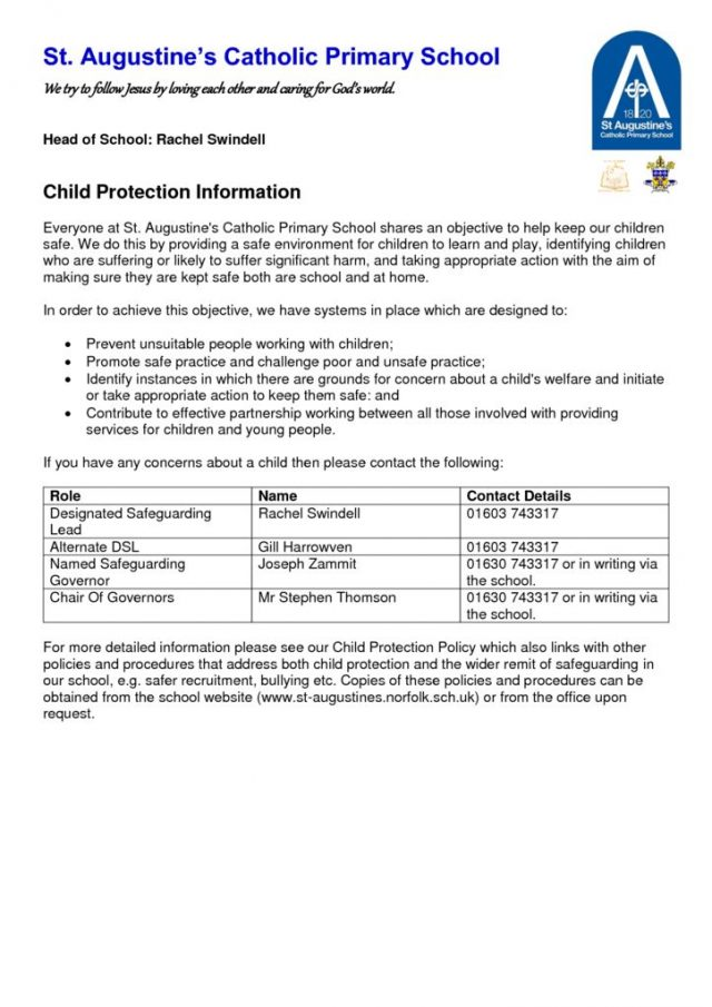 thumbnail of Child Protection Information