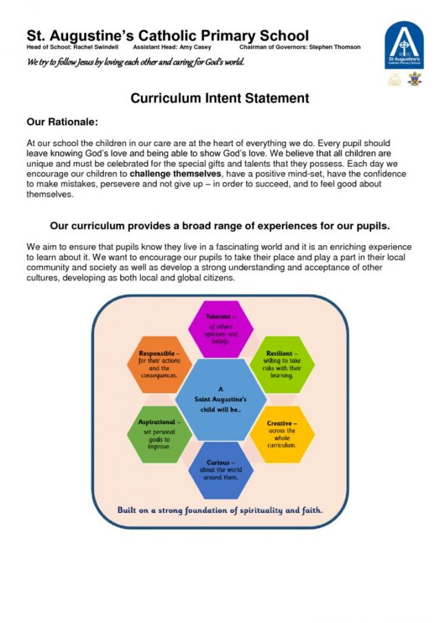 thumbnail of Curriculum Intent Statement