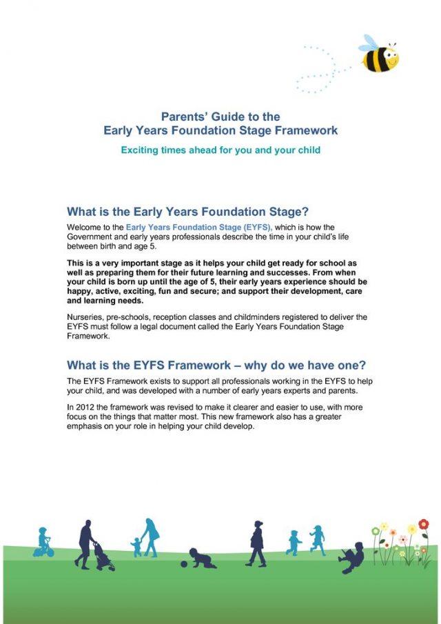 thumbnail of EYFS – A Parent's Guide