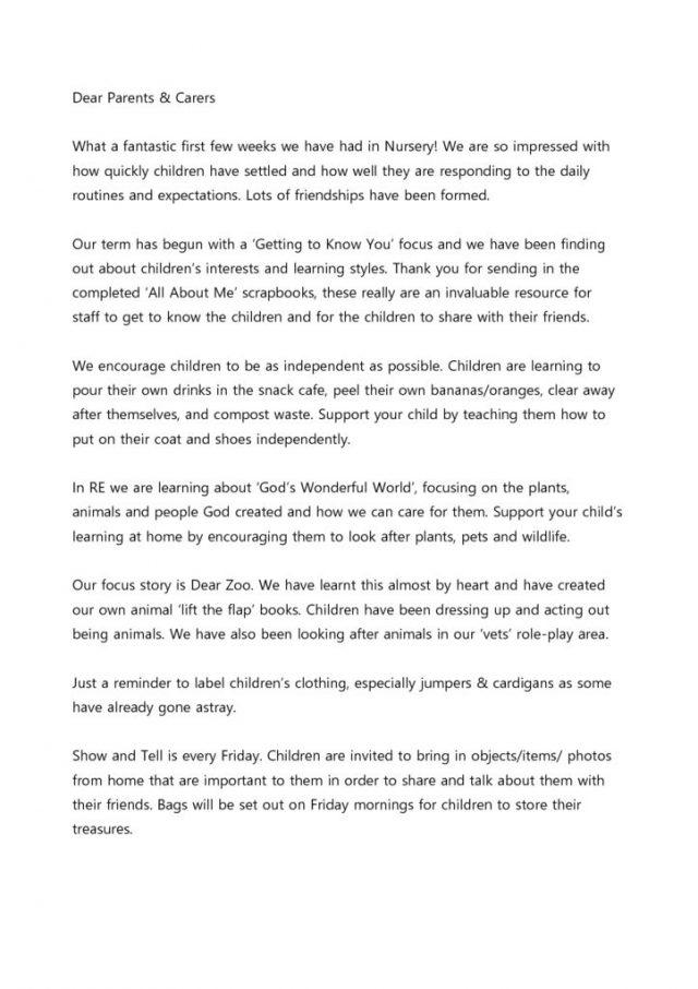 thumbnail of Nursery Newsletter October 2018