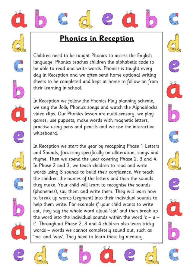 thumbnail of Phonics in Reception
