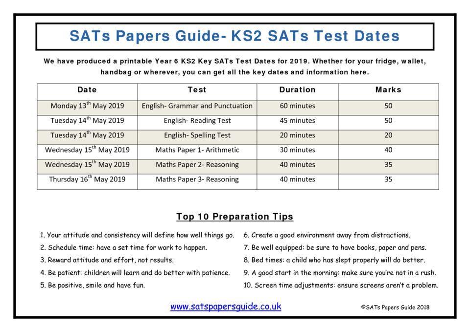 thumbnail of ks2-sats-test-dates-2019