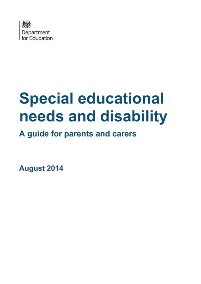 thumbnail of special_educational_needs_and_disabilites_guide_for_parents_and_carers