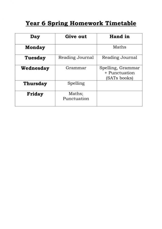 thumbnail of spring-term-homework-timetable