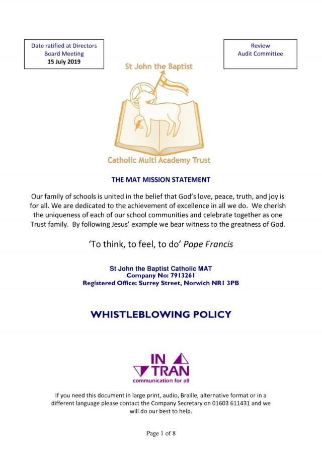 thumbnail of SJB MAT Whistleblowing Policy