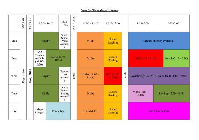 thumbnail of Dragons Timetable 2019-2020